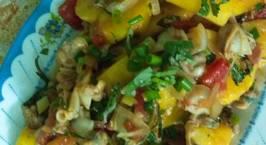 Hình ảnh món Ngao xào dứa và canh chua ngao