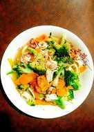 Mực xào bông cải