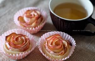 Apple Cheese Rose Tarts