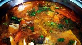 Hình ảnh món Nước lẩu kimchi với rau củ mài (siêu dễ)