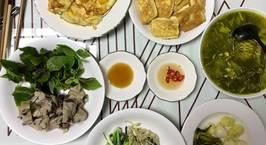 Hình ảnh món Dấm cá nấu dọc mùng