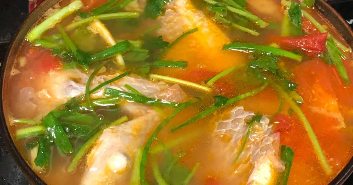 Cá điêu hồng nấu ngót