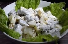 Trái cây tô trộn xốt mayonnaise