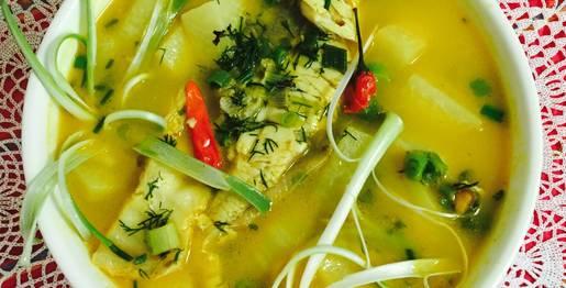 Hình ảnh Canh Chua Cá Nấu Với Xu Hào