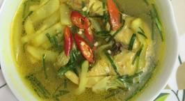 Hình ảnh món Canh cá lóc nấu bầu muối chua