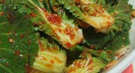 Hình ảnh món Kim Chi cải bẹ xanh muối xổi 봄동겉절이