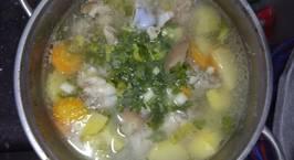 Hình ảnh món Canh xương heo hầm lagu cà rốt,khoai tây