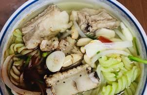 Mỳ nui nấu sườn(3 tô)