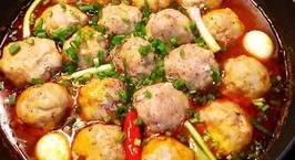 Hình ảnh món Thịt viên bọc trứng cút sốt cà chua ?