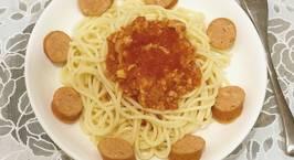 Hình ảnh món Mì Spaghetti sốt thịt bằm và xúc xích