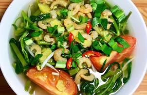 Canh Chua Rau Muống Nấu Tôm Khô