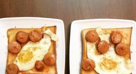 Hình ảnh món Bánh mì cho bữa sáng đơn giản đầy năng lượng cho một người