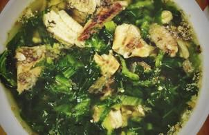 Canh cải nấu cá rô đồng