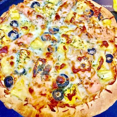 Pizza Cá Hồi Xong Khói