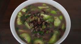 Hình ảnh món Canh mướp hương nấu đậu phộng