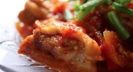 Hình ảnh món Đậu hũ (đậu khuôn/đậu phụ) nhồi thịt sốt cà chua