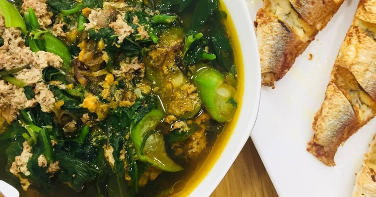 Canh cua rau đay rất dễ ?
