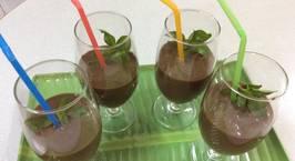 Hình ảnh món Sinh tố cà phê với chuối và trái bơ.