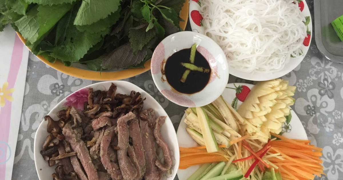 Thịt bò cuốn cải xanh