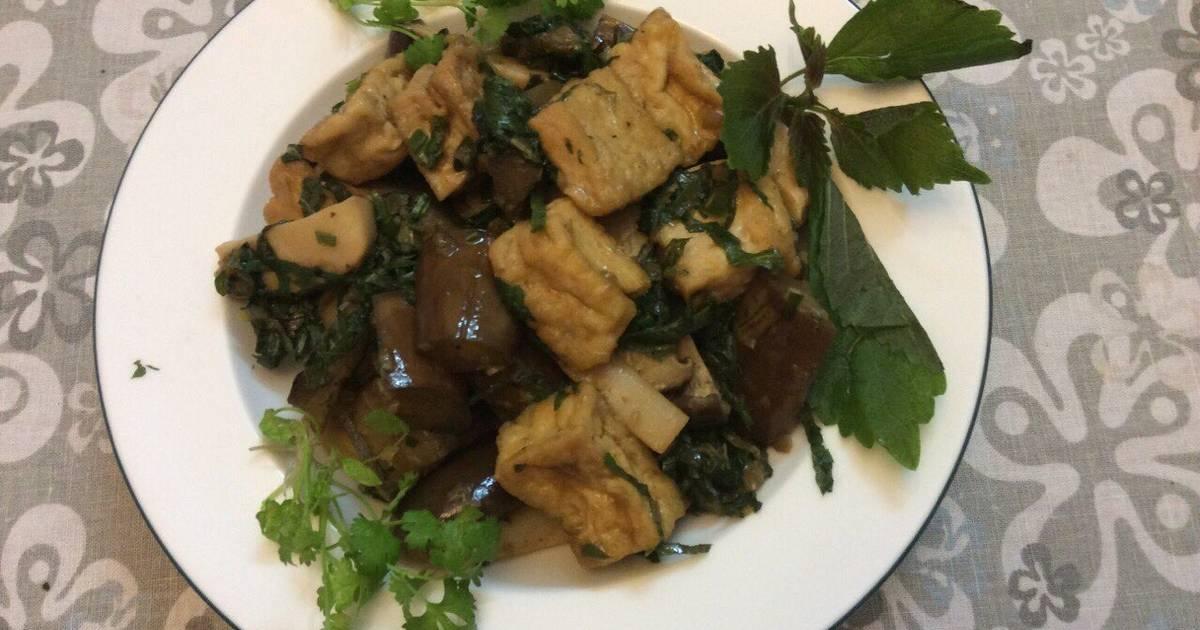 Cà tím kho chay với nấm đùi gà và đậu