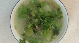 Hình ảnh món Canh bí xanh nấu với xương gà