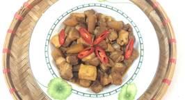 Hình ảnh món Thịt ba chỉ kho củ cải và đậu phụ