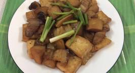 Hình ảnh món Củ cải kho đậu phụ và thịt ba chỉ