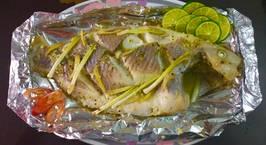 Hình ảnh món Cá diêu hồng gói giấy bạc đút lò