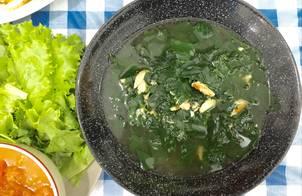Canh rau ngót nấu thịt ghẹ