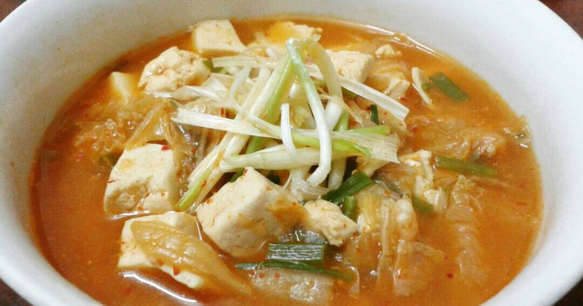 Canh kimchi đậu hũ siêu cay