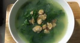 Hình ảnh món Canh ngao nấu với rau mùng tơi