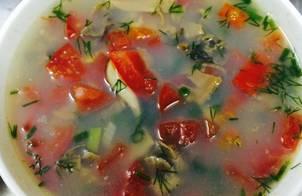 Canh trai nấu cà chua và sấu