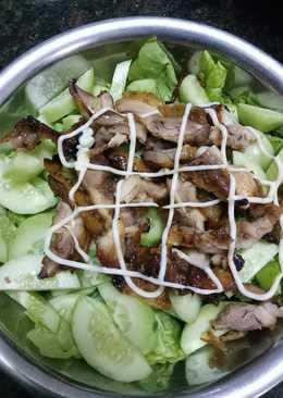 Ức gà nướng salad gymer