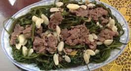 Hình ảnh món Thịt trâu xào rau muống