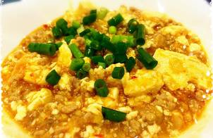 Đậu phụ xào thịt Mapo Tofu nấu đơn giản kiểu Nhật