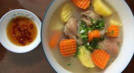 Hình ảnh món Chân giò hầm khoai tây,cà rốt