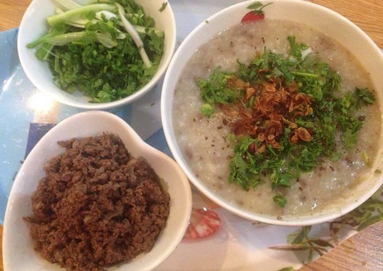 Cách nấu cháo chim bồ câu hạt sen