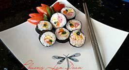 Hình ảnh món kimbap phomai