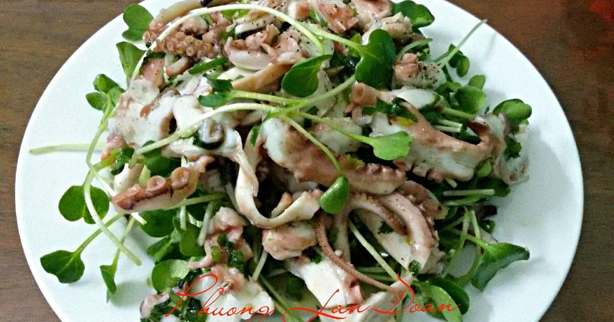 Salad Bạch Tuộc Cải Mầm
