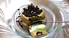 Hình ảnh món Pudding chocolate, vani, và cafe