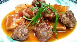 Hình ảnh món Đậu khuôn và thịt viên sốt cà chua
