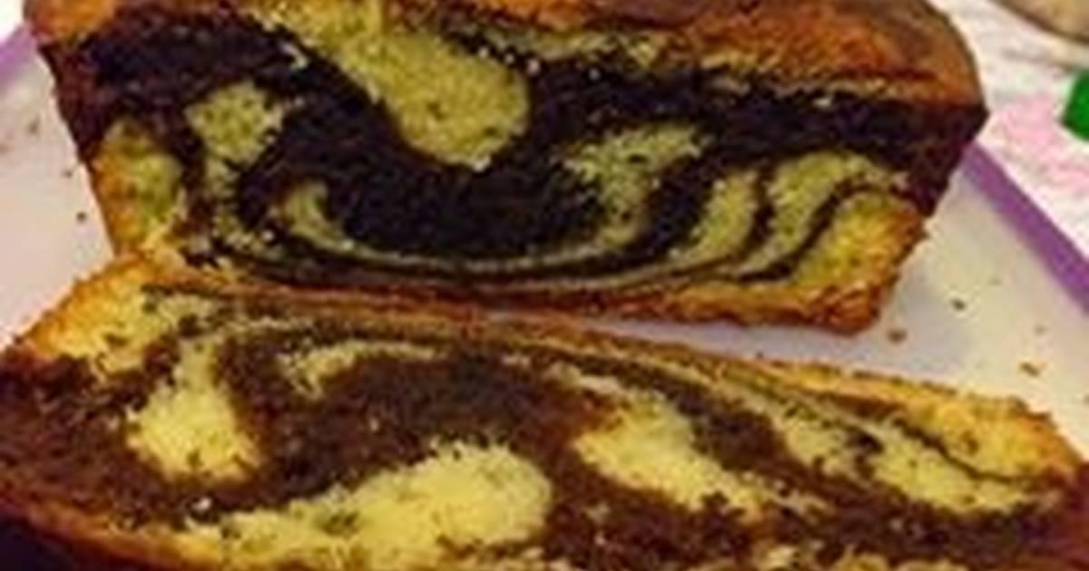 Kahlua Marble Butter Cake( bánh bơ rượu cafe Kahlua)