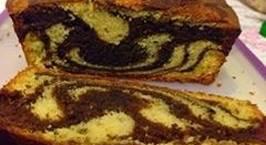 Hình ảnh món Kahlua Marble Butter Cake( bánh bơ rượu cafe Kahlua)