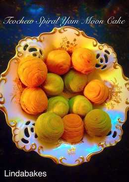 Bánh trung thu ngàn lớp kiểu Triều Châu (Teochew Spiral Yam Moon Cake)