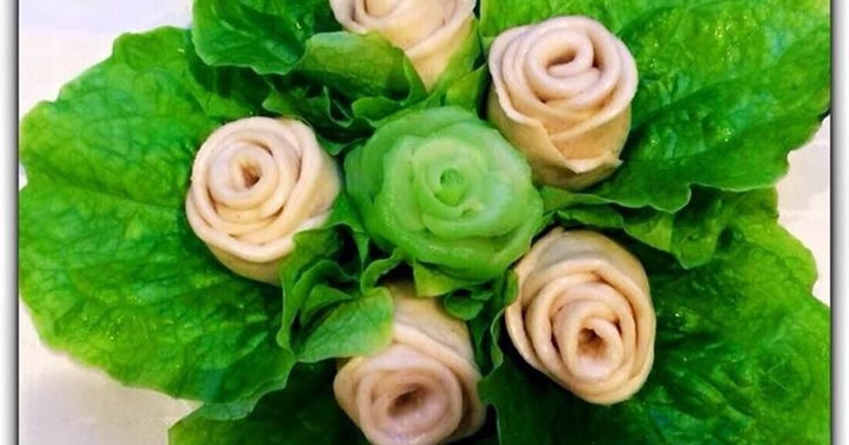 Bánh bao chay hoa hồng