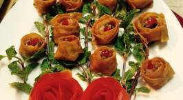 Hình ảnh món Hoành thánh hoa hồng