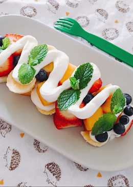 Fruit Salad with Yogurt Sauce🍓🍓