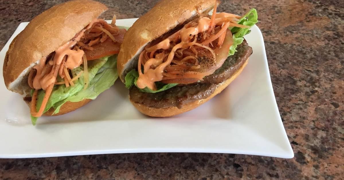 Beef teriyaki sandwich-Bánh mì bò nướng