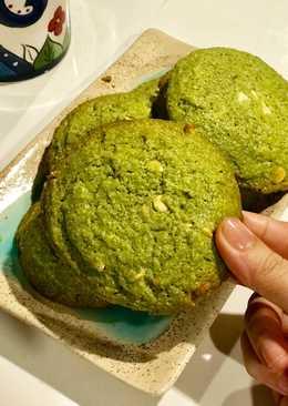 Matcha cookies - Bánh quy trà xanh choco chip