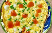Bánh gạo chiên trứng kiểu dã chiến